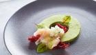 Hotel Korošica - meni TR, dodatna jed, Carpaccio brancina na moussu graha in mete, wasabi kaviar
