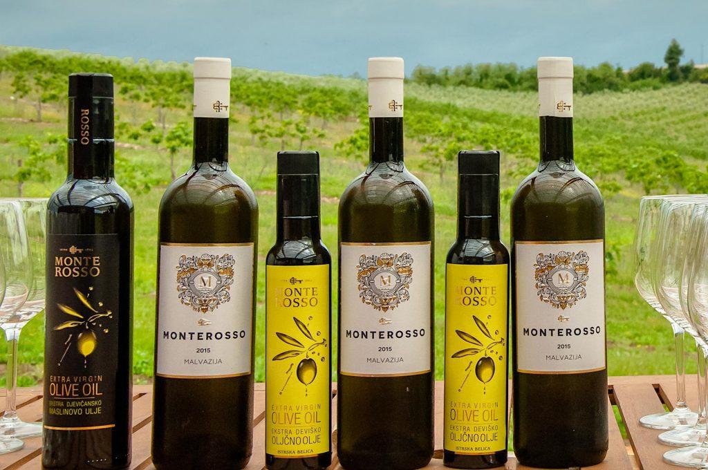 Monte Rosso - vino in olje