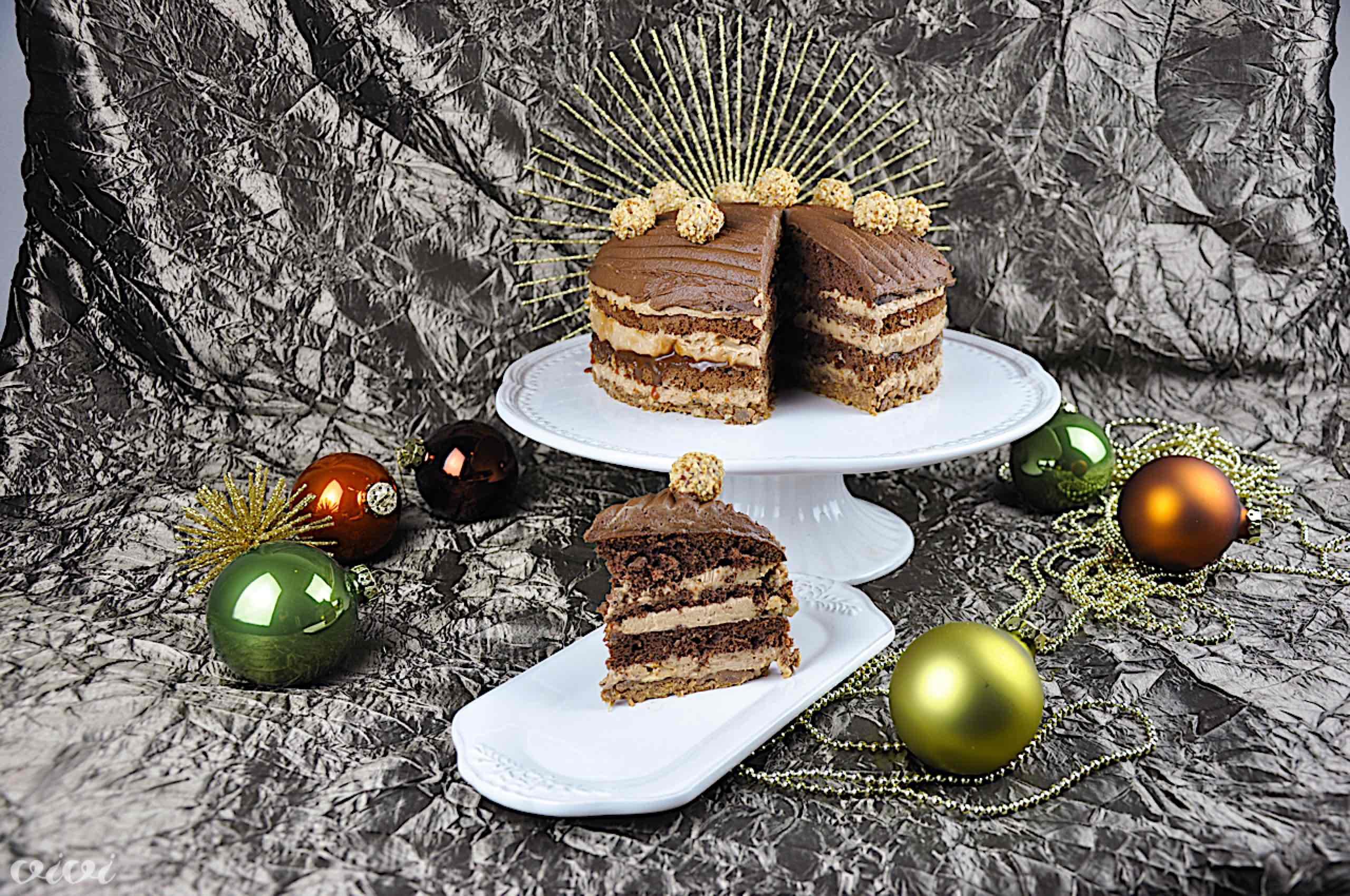 bozicna cokoladna karamela nougat torta vivi 122