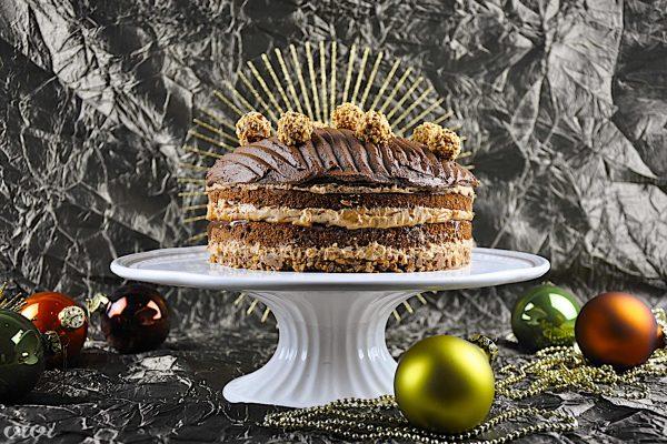 bozicna cokoladna karamela nougat torta vivi 88