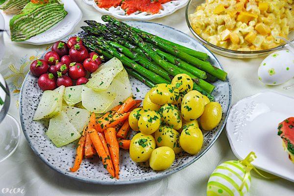 pomladna zelenjava solata