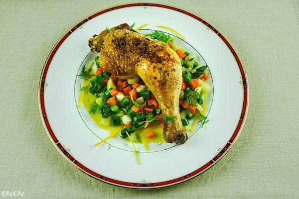 piscanec in zelenjava z olivnim oljem4