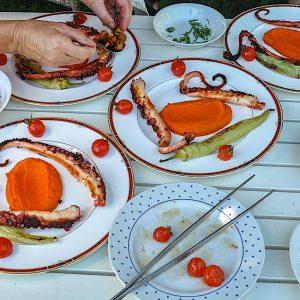 hobotnica na zaru