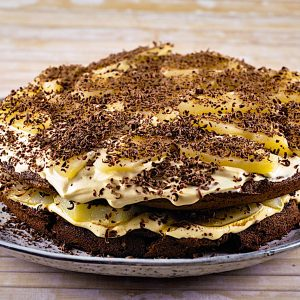 cokoladna genoise torta s hruskami4