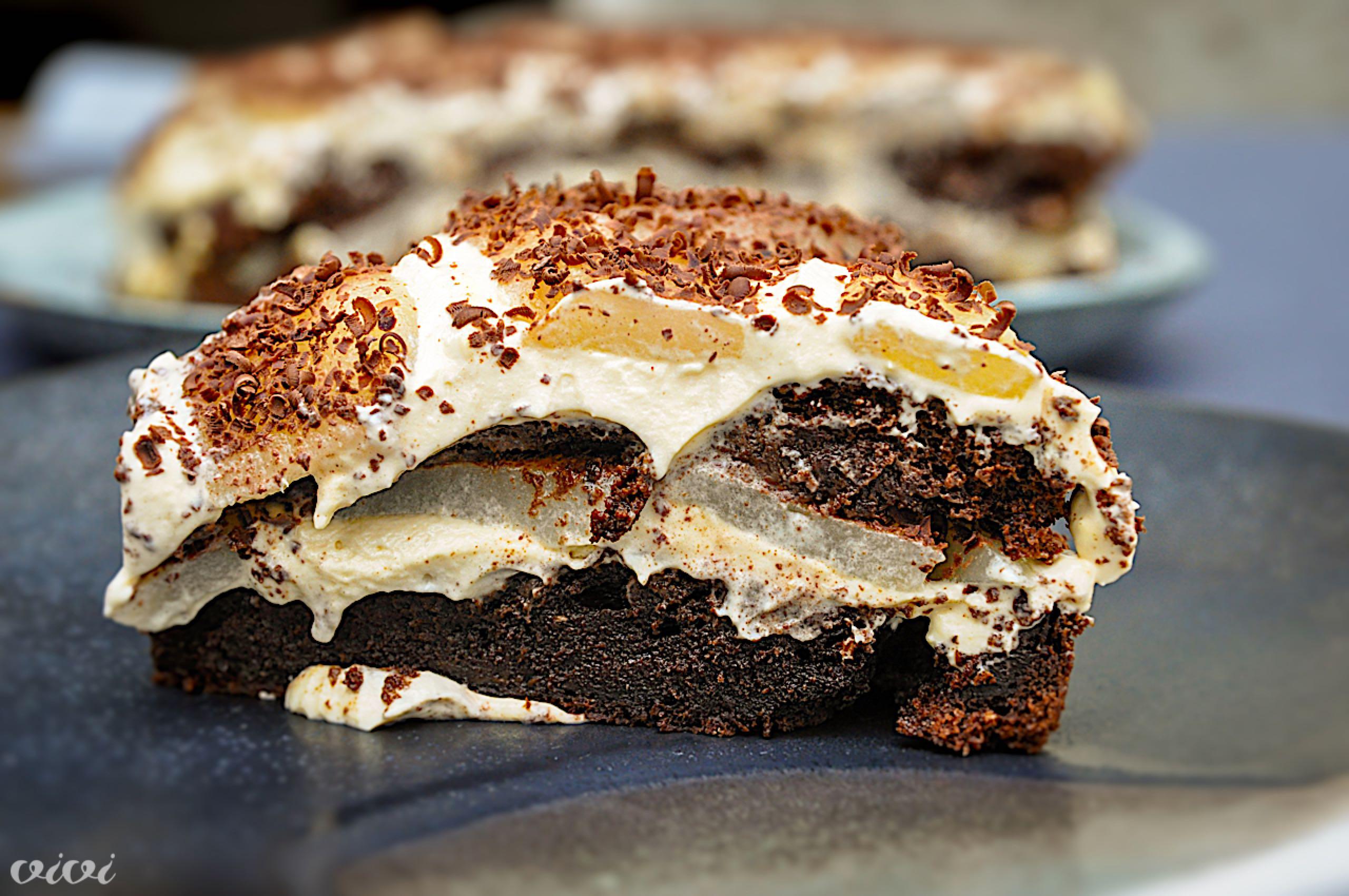 cokoladna genoise torta s hruskami9