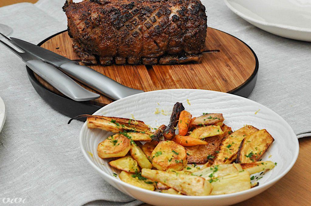svinjska pecenka zimska zelenjava 2