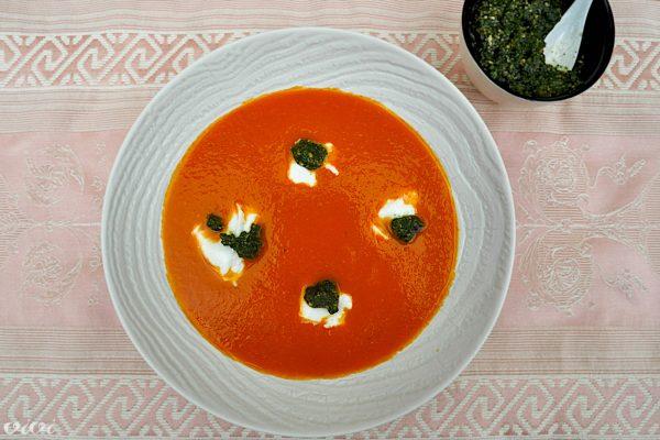 paradiznikova juha in tajski pesto z mocarelo5