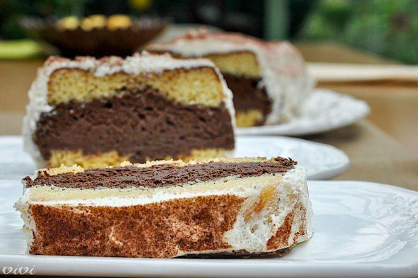 biskvit in temni cokoladni mousse3