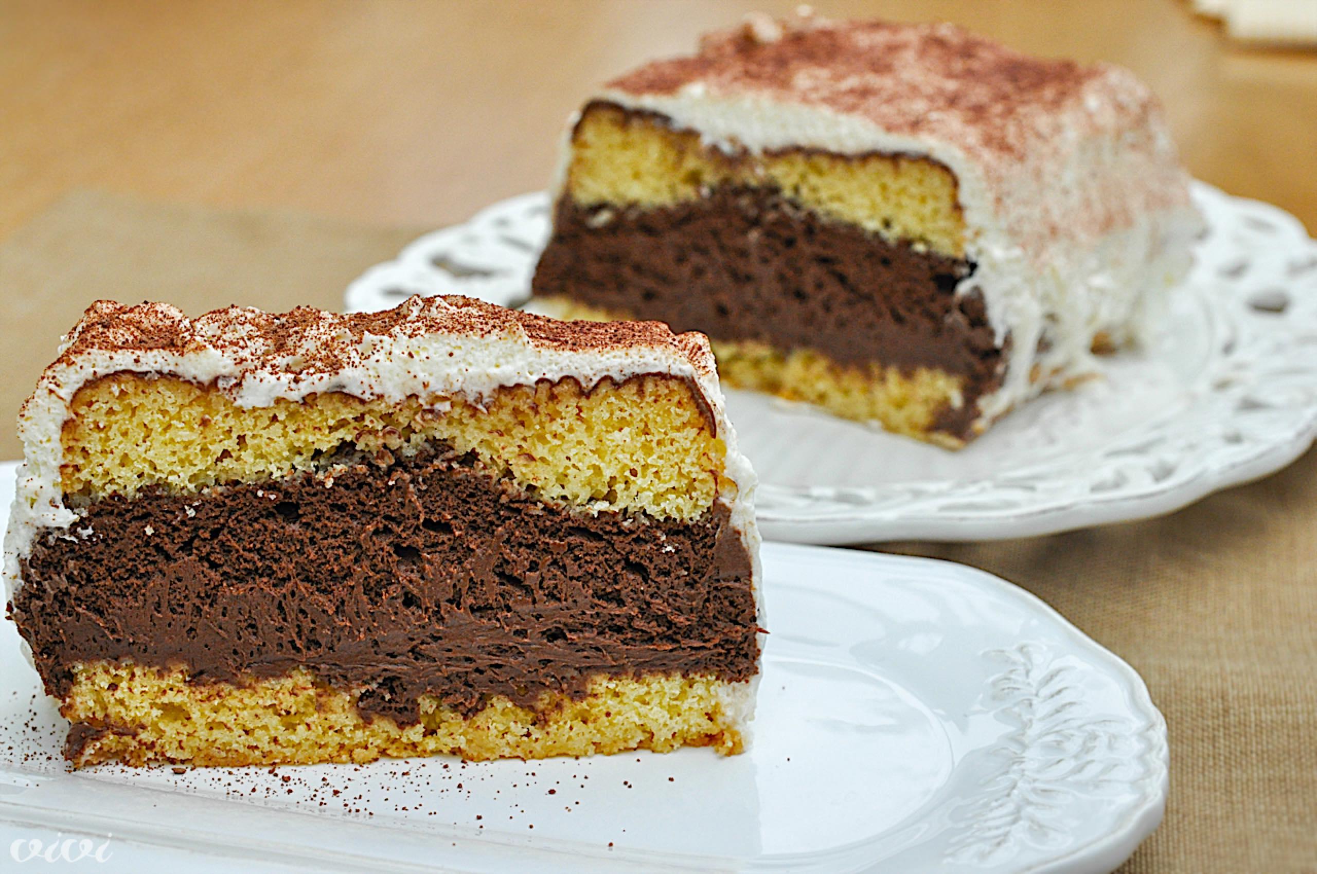 biskvit in temni cokoladni mousse5