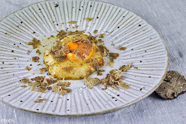 zelena jajce tartufi sous vide5