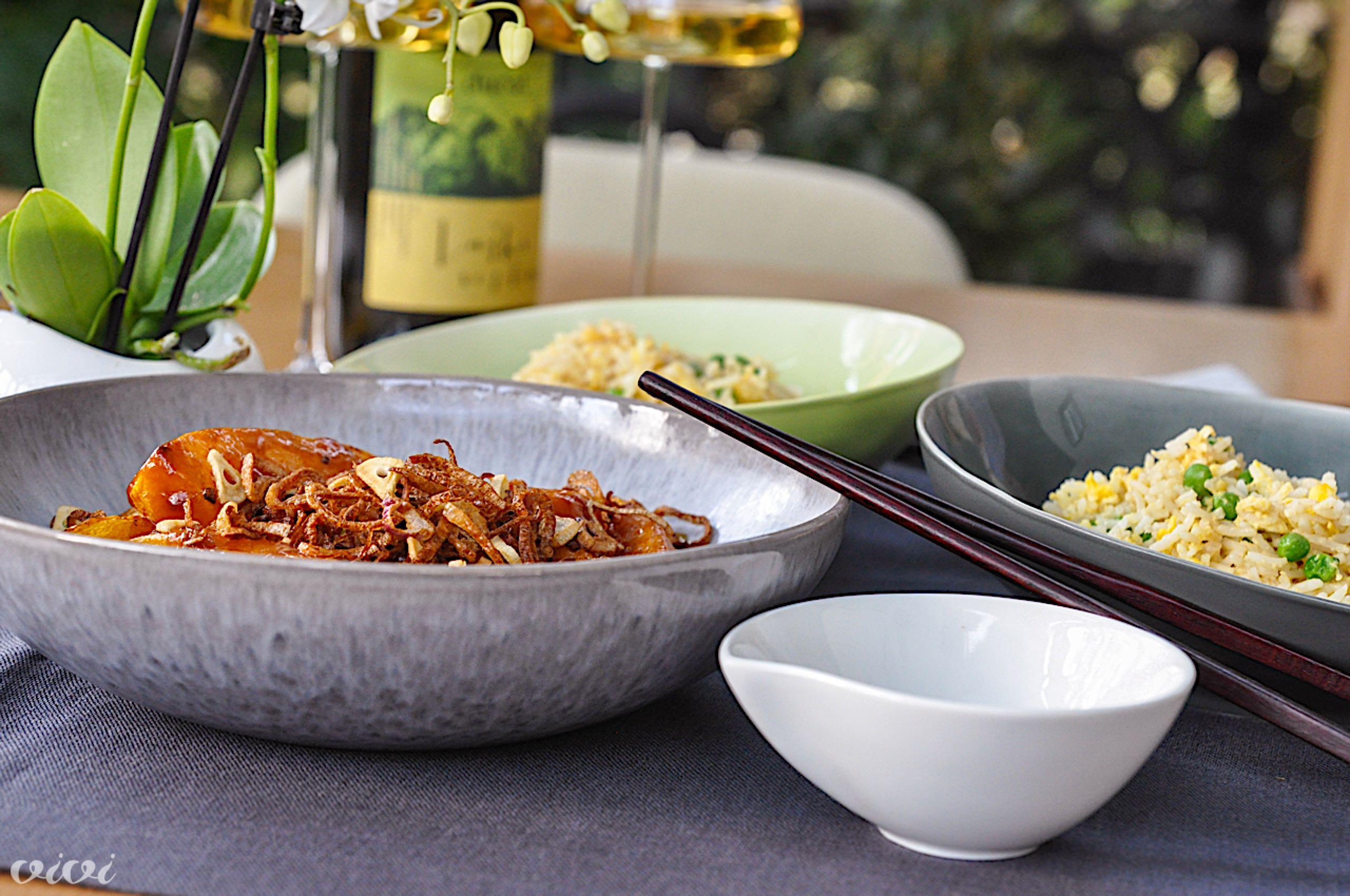 buča z miso glazuro in pečen riž4