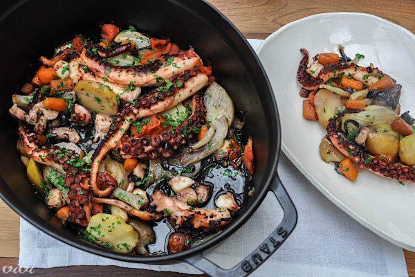 hobotnica z zelenjavo iz pečice5