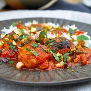 trskini polpeti v paradižnikovi omaki z meto in pistacijami4
