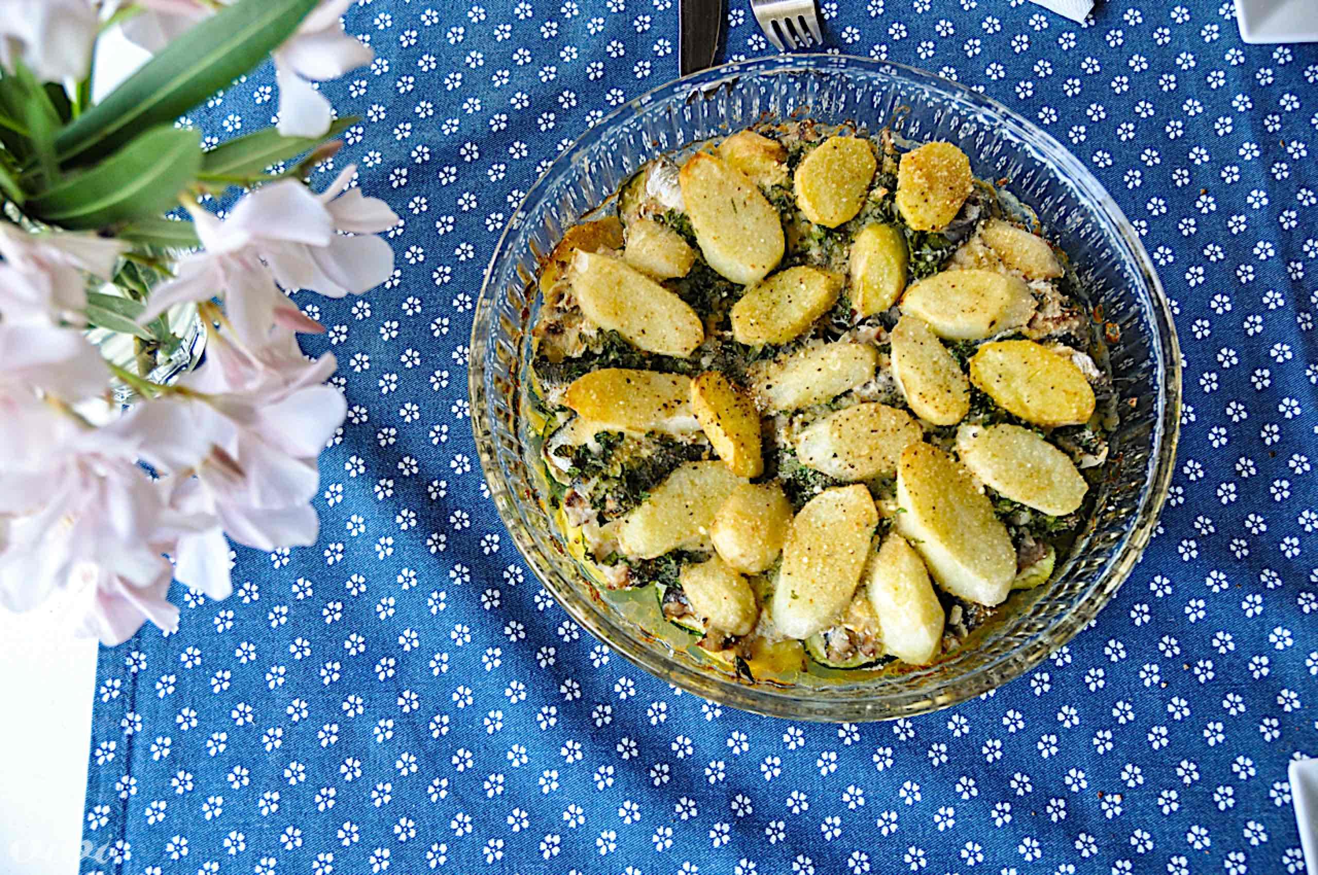 sardele s krompirjem v pečici