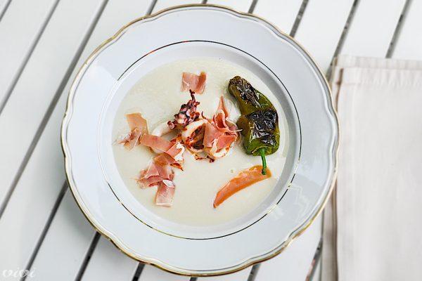 fižolova juha lignji in pimientos