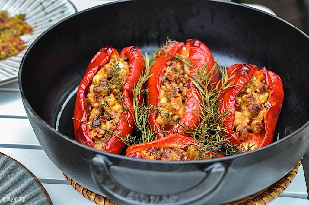 sredozemsko polnjene paprike in lečina solata2