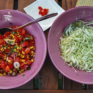tacos paradižnikova salsa in zelje