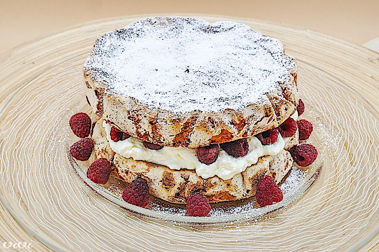 torta iz vetrca z lešniki in malinami13