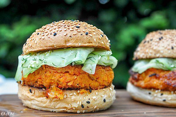 vege burger čičerka kumare2