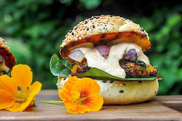 vege burger bučke sladek krompir2