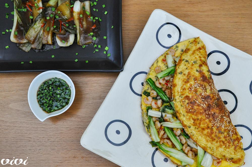 kitajska omleta z rakci in pak choi dvakrat1