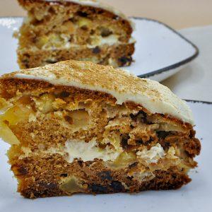 kolač z jabolki olivnim oljem in maslenim oblivom4