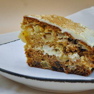 kolač z jabolki olivnim oljem in maslenim oblivom6