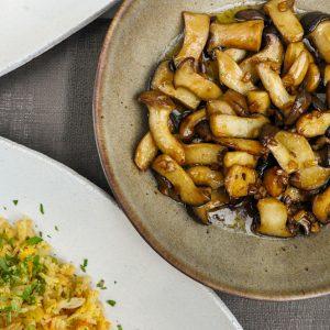 pečen riž in kraljevi ostrigarji3