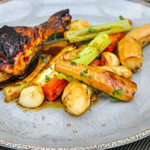 zažgani piščanec s tamarindovo omako