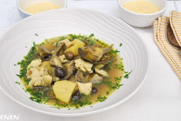 kokošja juha z artičokami 2