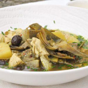 kokošja juha z artičokami 6