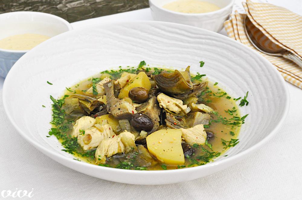 kokošja juha z artičokami 7