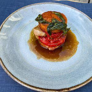 svinjska saltimboka s paradižnikovo polento2