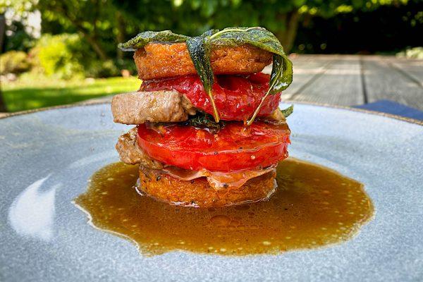 svinjska saltimboka s paradižnikovo polento4