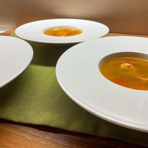 bistra bučna juha s kozicami5