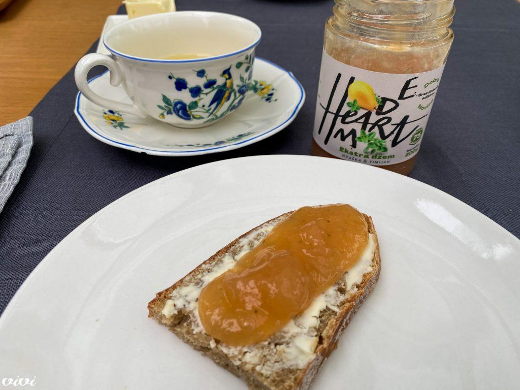 heart made džem hruška timijan zajtrk1