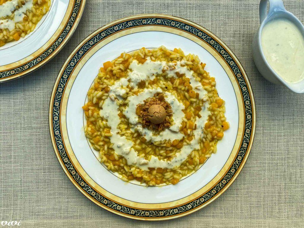 rižota z bučo amaretti sirova omaka1