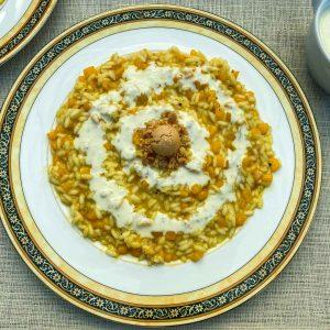 rižota z bučo amaretti sirova omaka2