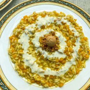 rižota z bučo amaretti sirova omaka3