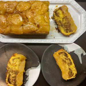 marmorni kolač z jabolki in ingverjem 6