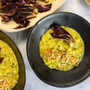 krompirjeva rižota popečen solkanski radič6
