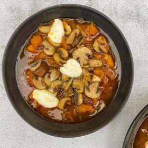 juha iz pečene buče s šampinjoni010