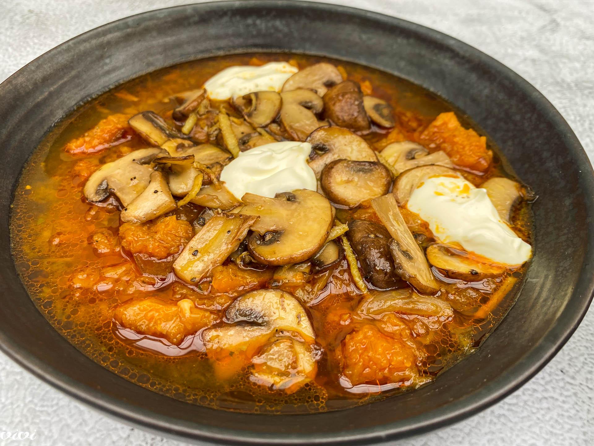juha iz pečene buče s šampinjoni014