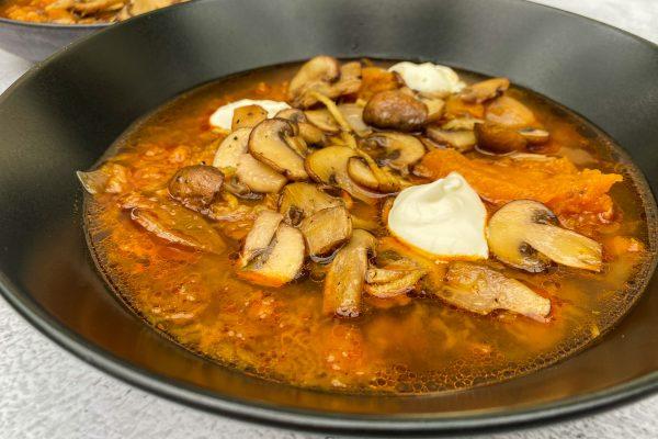 juha iz pečene buče s šampinjoni019