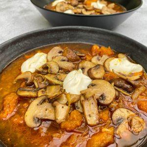 juha iz pečene buče s šampinjoni022
