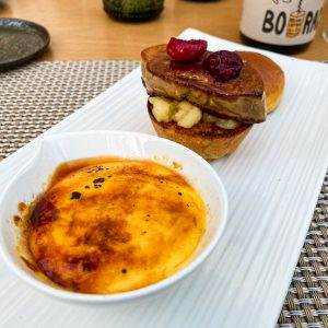 foie gras burger in crema catalana1