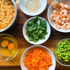 pečen riž z edamame in kozicami004