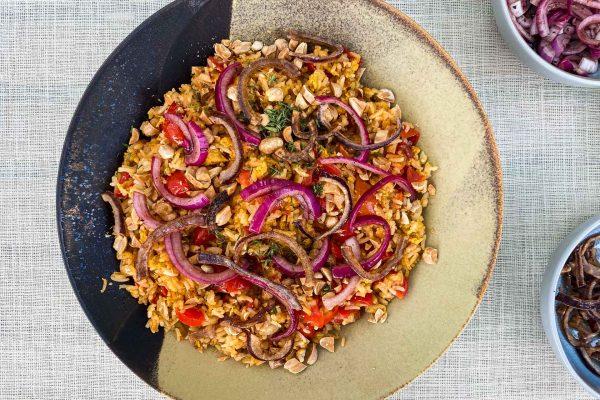Pražen riž s paradižnikom063