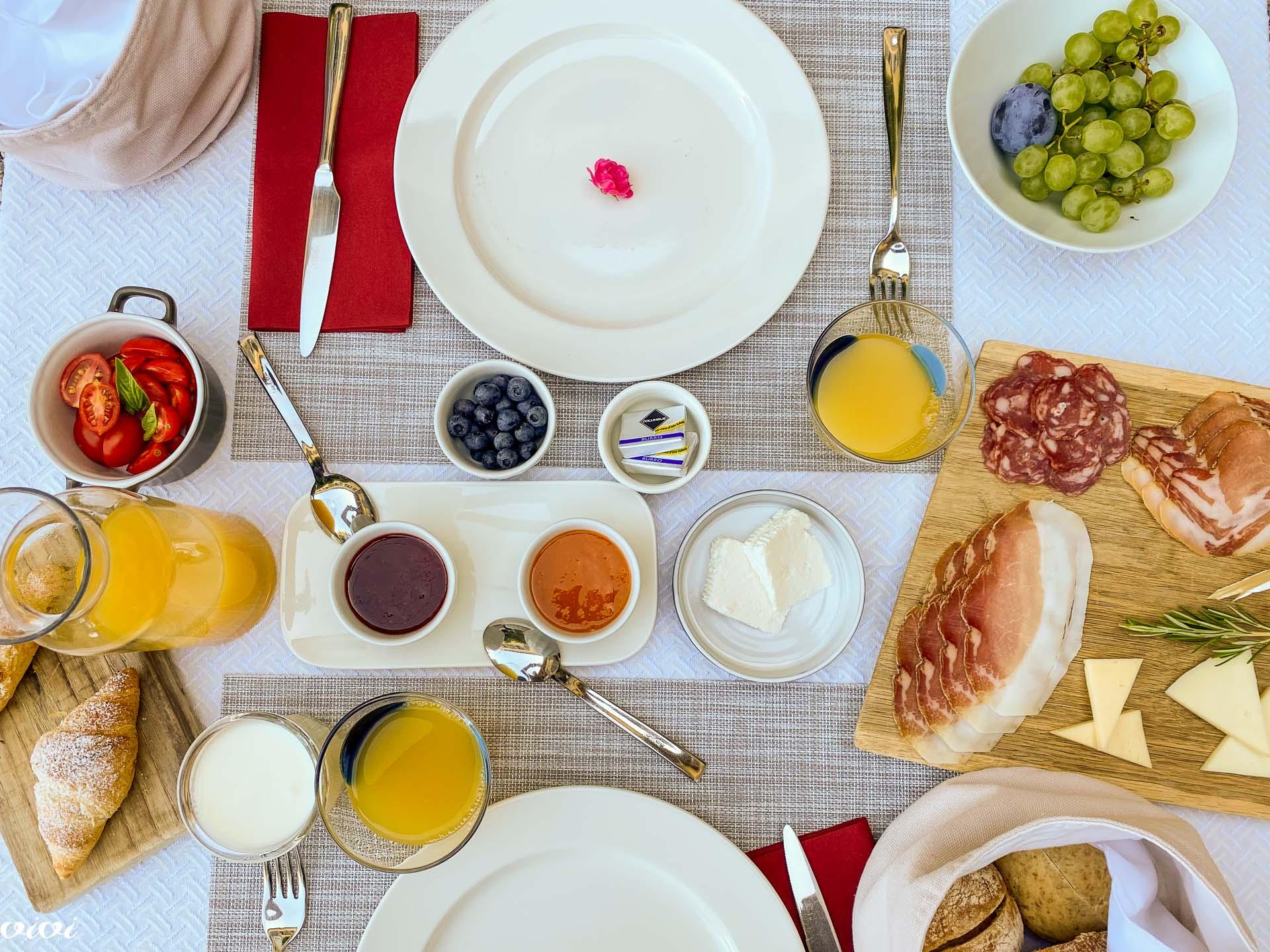 Hiša Krasna, zajtrk