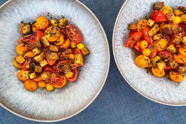 Paradižnikova solata z ingverjem in tofujem4
